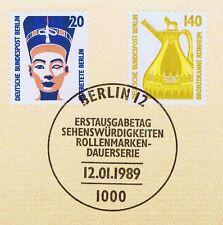 Berlin 1989: Nofretete und Bronzekanne SWK Nr 831+832 mit Sonderstempel! 1A 1804