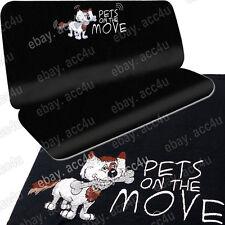 Coche Para Mascotas Gato Perro Negro De Tela Resistente Al Agua Respaldo Asiento Trasero Protector Cubierta