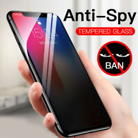 For iPhone 11 Pro Max Full Coverage Film Tempered Glass Privacy Screen Protector