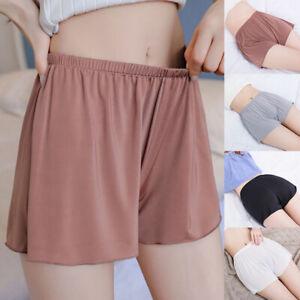 Fashion Women Satin Safety Short Pants Safe Boxer Shorts Lingerie Underpants