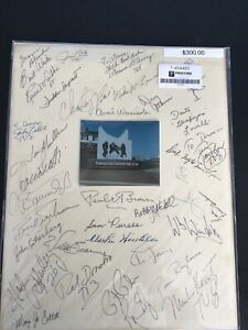 Pro Football hall of fame multi signed Authenticated custom matted photo 11x14