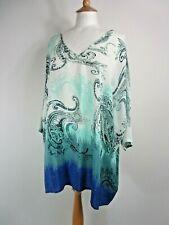 East Lifestyle Pure Silk Blue Dip-Dye Tunic Top OSFA