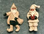 House Of Hatten 2 Vtg Christmas Jewelry Pins  Santa Claus  Hofh 1990S