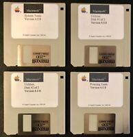 Macintosh System 6.0.8 4 disk set / Works on Classic Macintosh Home Computers