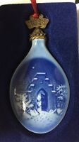 Vintage 1986 Bing & Grondahl Christmas Ornament - Silent Night Holy Night w/Box