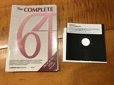 THE COMPLETE COMMODORE 64 128 BOOK Manual Guide With Disk  Compute! 7 Programs