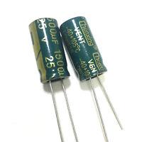 25v 1500uf 25volt 1500mfd 105c aluminum electrolytic capacitor 10mm×20mm