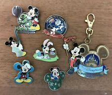 6 Disney pins & 1 Lanyard Clip All Mickey Mouse: Easter Holiday Star Wars Wdw