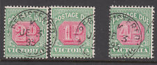Victoria - Postage Dues Cancelled REGISTERED - Rare!!!