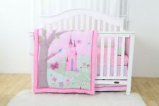 4 Piece Princess Castle Baby Nursery Crib Bedding Set