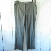 New White House Black Market Pants The Slim 14 Gray Plaid Flat Front