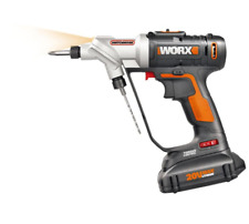 Worx 20 Volt Lithium-Ion Switch Driver Compact Cordless Drill Battery Dual Chuck