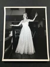 1943 WW2 USO Irene Manning Movie Actress 9th US Army Camp Polk LA Old Photo A260