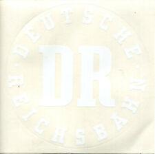 3 Aufkleber groß DR Deutsche Reichsbahn weiß 15,5 cm Durchmesser (A12)