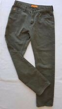 "MOOKS Kids Jeans size 14 (waist 26"") Green Denim Slim Cut Adjustable waist strap"