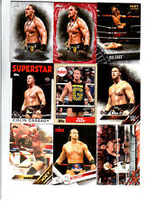 Big Cass Wrestling Lot of 9 Different Trading Cards 2 Inserts WWE NXT BC-A1