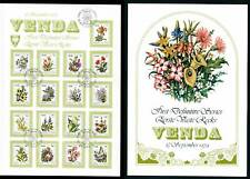 1979 Venda Flowers FDC, First day Cover. South Africa