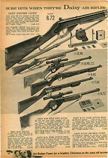 1959 PAPER AD Daisy Air Rifle New M 99 Special 98 25 Pump 107 Slide Action Scout