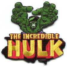 THE INCREDIBLE HULK retro EMBROIDERED IRON-ON PATCH *Free Shipping* marvel p3352