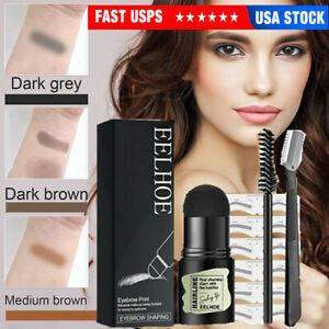 One Step Brow Stamp Shaping Kit Eyebrow Definer Waterproof Quick Makeup Set