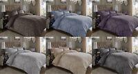 Luxury 600TC Thread Count Jacquard Cotton Quilt Duvet Cover Pillow Cases Set
