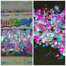 Limited Editio Glitter Mix~LETS PARTY* Comes W Alloy~ Acrylic Nail/Gel~Nail Art