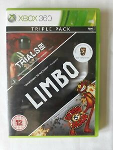 Triple Pack - Trails , Limbo, Splosion Man Game Microsoft xbox 360 FREE SHIPPING
