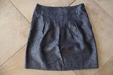 ANN TAYLOR  Navy Linen Blend Slight A Line Skirt 8