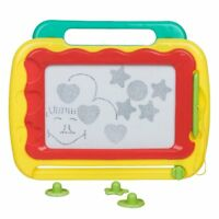 Fun Educational Colourful Magic Drawing Doodle Board Magnetic Stylus & Shapes
