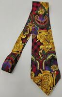 Cravatta Gianni Versace 100% pura seta tie silk original made in italy barocco