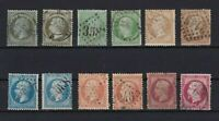 FRANCE 1862 EMPIRE FRANC STAMPS CAT £300+   REF 5855