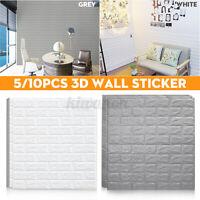 70x77cm 5/10PCS 3D Waterproof Tile Brick Wall Sticker Self-adhesive Foam Panel