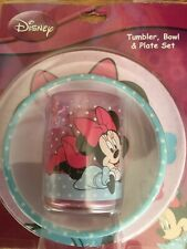 Disney Minnie Mouse Tumbler, Bowl and Plate Set. New