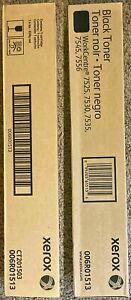 Lot of 2 - XEROX 006R01513 BLACK TONER WORKCENTRE 7525 7530 7535