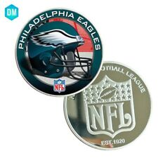 High Grade Fine Silver Coin US NFL Metal Coin Football PHILADELPHIA EAGLES Team