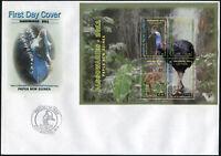 Papua-Neuguinea. 2011. Helmkasuar 3 (Mint) Ersttagsbrief
