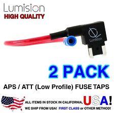 2 PACK Add A Circuit APS ATT Low Profile LP Mini Blade Fuse Tap fusetap Lot