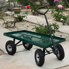 "1000lbs Heavy Duty Garden Nursery Wagon Cart 38"" x 20"" w/ 10"" Pneumatic tires"