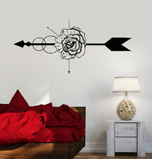 Vinyl Wall Decal Rose Flower Shop Arrow Art Decoration Stickers (1180ig)