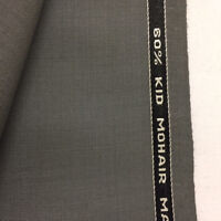 WILLIAM HALSTEAD Grey 60% Mohair 40% Wool Suit Fabric. (270g)