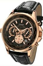 Sekonda Men's Chronograph World Timer Leather Strap Watch 1024. New in Box. 754