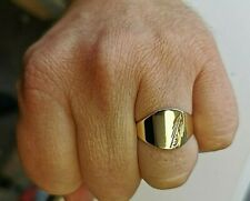 Solid gold Signet Ring in Solid gold, Mens Jewellery, UK hallmarked Gold Mu