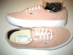 Vans Mens Authentic Pro Mahogany Rose Pink White Suede Skate shoes Size 13 NWT