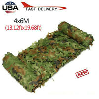 Woodland Shooting Hide Army Camouflage Net 20X13 FT Hunting Cover Camo Netting