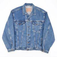 Vintage LEVI'S  Blue 90s Cotton Casual Denim Jacket Mens L