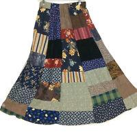 First Bloom Patchwork Skirt Medium Modest Midi Length Elastic Waist Pull-on 80s