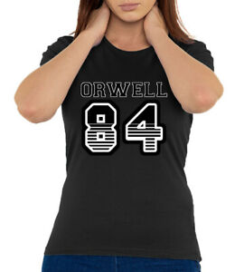 Orwell 84 George Orwell Sports Team Styled 1984 Logo Women's T Shirt