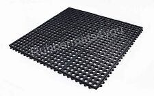 PACK of 4 INTERLOCKING Rubber Safety Mat Holes Mosque Wash Washing Feet Wet Room