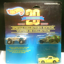 1987 Hot Wheels 20th Anniversary Cars Collector Ed. - Corvette Army Truck Datsun