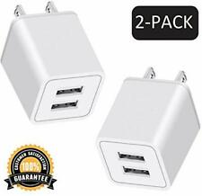 USB Charger, 2.4A 2-Port Portable Power Adapter 10W Fast Charging Cube